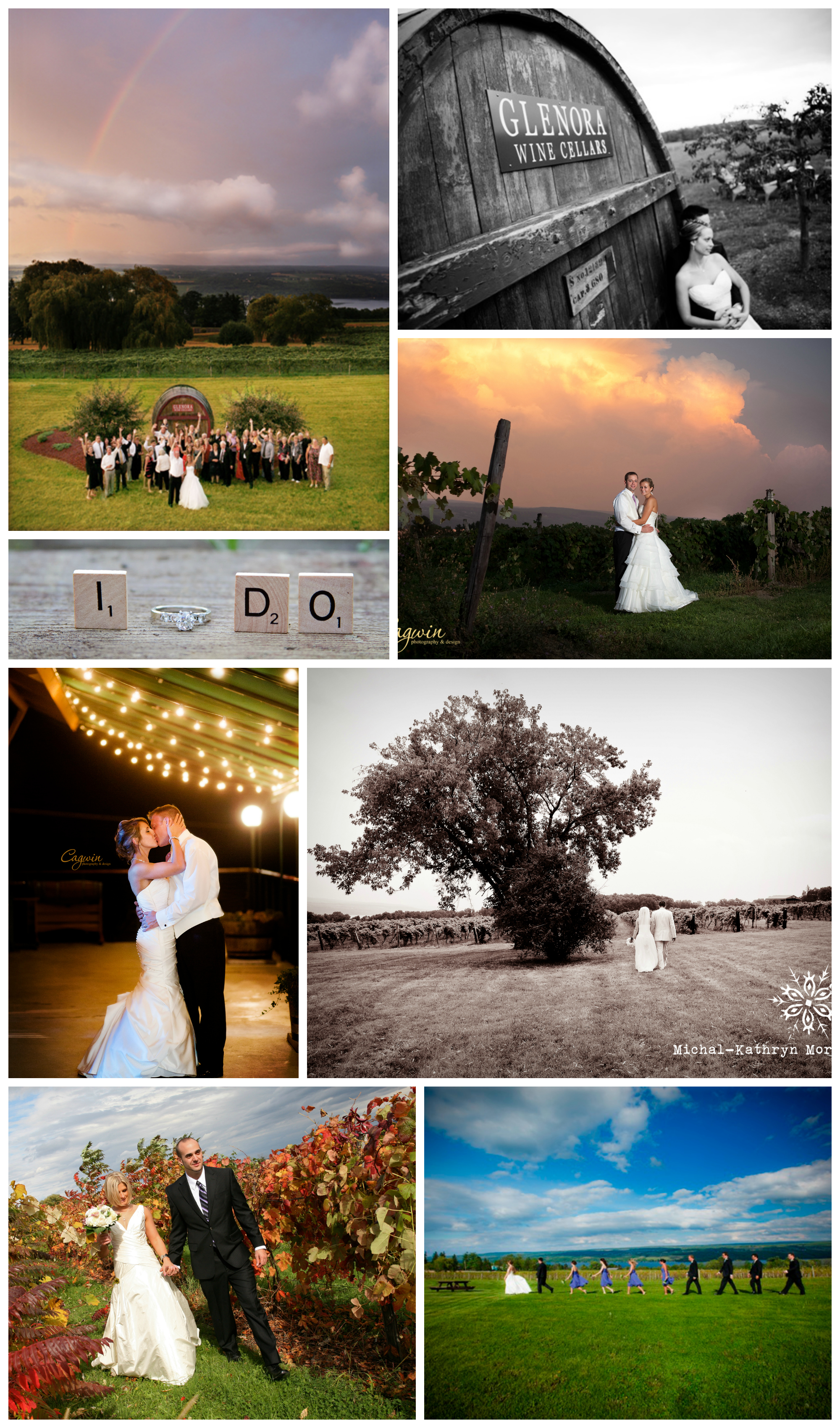 Glenora Wine Cellars Wedding Collage