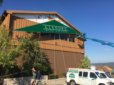Glenora Wine Cellars New Awning