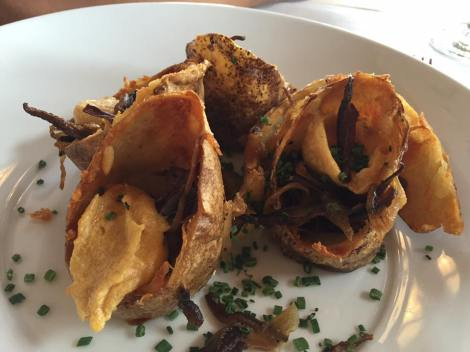 Shiitake 'Bacon Jam' Potato Skins