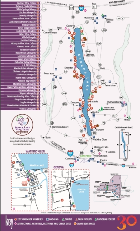 Seneca Lake Wine Trail Map