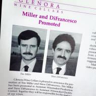 Steve DiFrancesco & Tim Miller of Chateau LaFayette Reneau in 1989