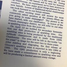 April 13th, 1981 - First Bottling of Sparkling Wine for secondary fermentation at Glenora Wine Cellars